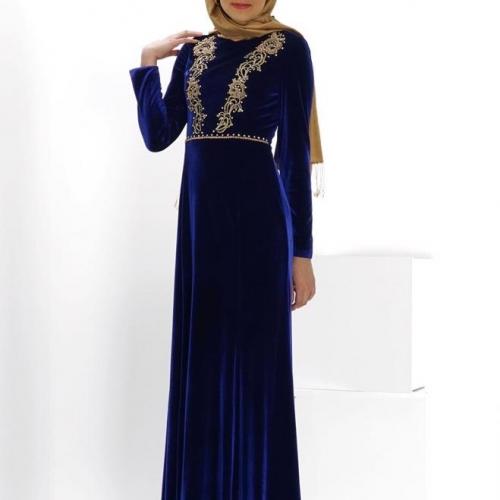 синее платье на никах
