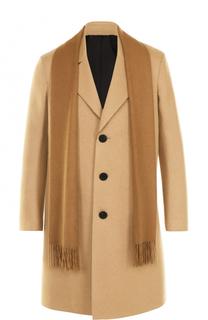 мужское пальто с шарфом