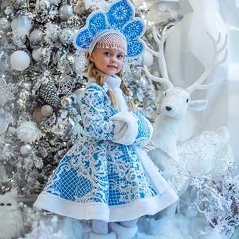 Фото 1 - Где взять костюмы Снегурочки на Новый год для взрослого и ребенка