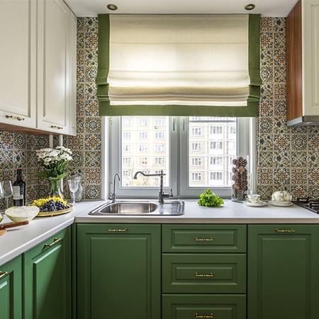 Фото 1 - Виды штор и какие шторы подойдут на кухню